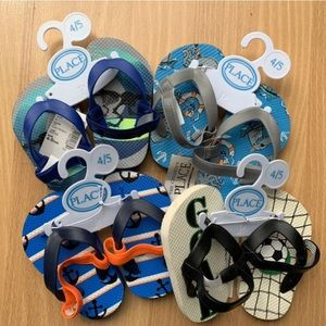 Children's Place Boy's Flip Flop Lot 4/5